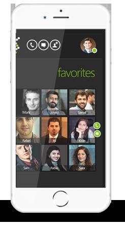 Smartlink App Contacts View